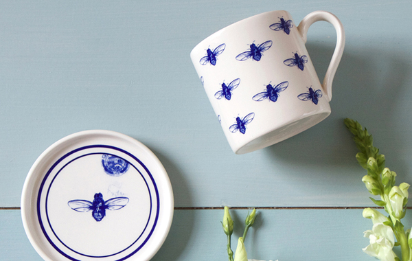 Kate Thorburn: What Kate Loves Bees Image of cup and saucer