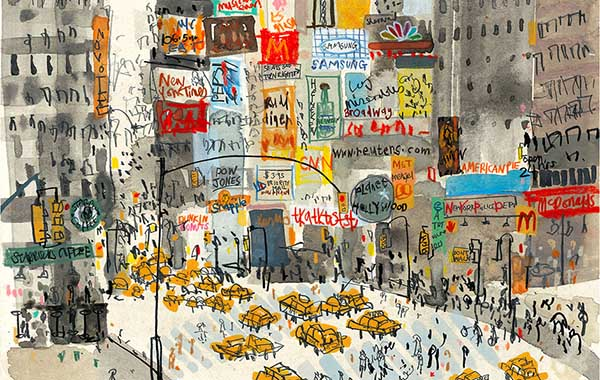 Clare Caulfield Times Square NYC
