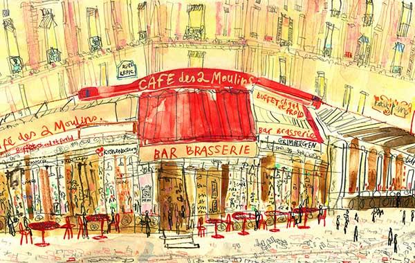 Clare Caulfield The Amelie cafe Paris